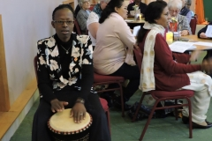 Ireen Mate playing the Drum
