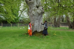Sisters Sneha and Ireen at the Tree