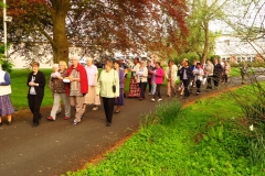 Sisters walking in Procession
